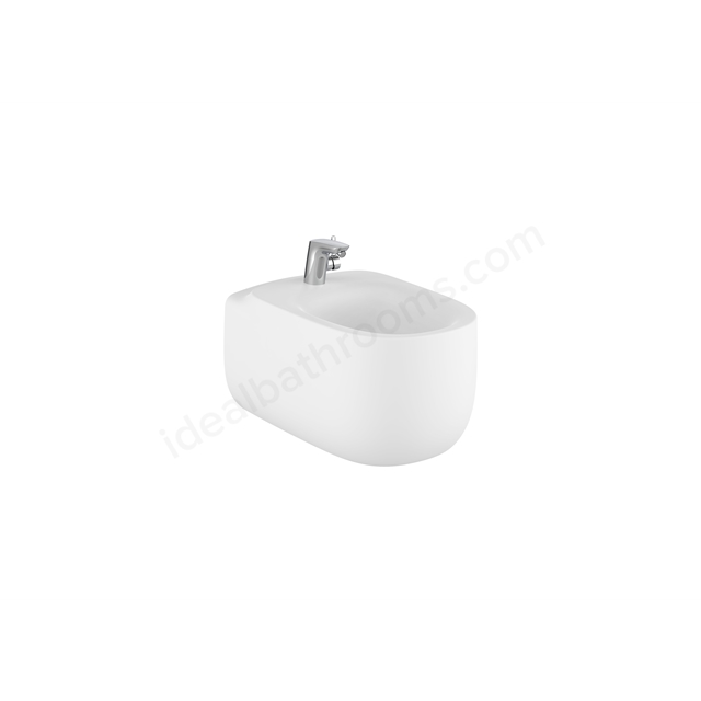 Roca Beyond Wall-Hung Bidet 1Th (Without Cover Holes) - Matt White