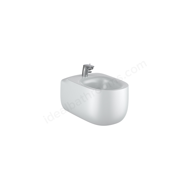 Roca Beyond Wall-Hung Bidet 1Th (Without Cover Holes) - Pearl