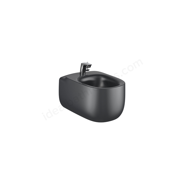 Roca Beyond Wall-Hung Bidet 1Th (Without Cover Holes) - Onyx