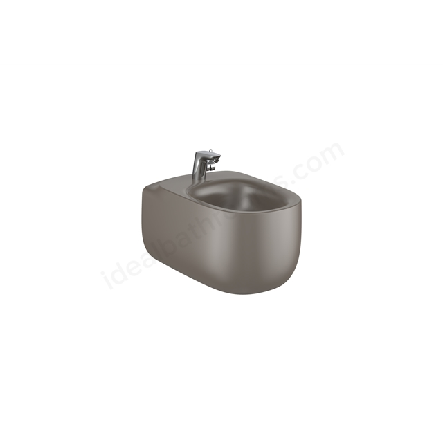 Roca Beyond Wall-Hung Bidet 1Th (Without Cover Holes) - Coffee