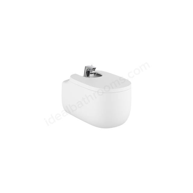 Roca Beyond Wall-Hung Bidet 1Th (With Cover Holes) - Matt White