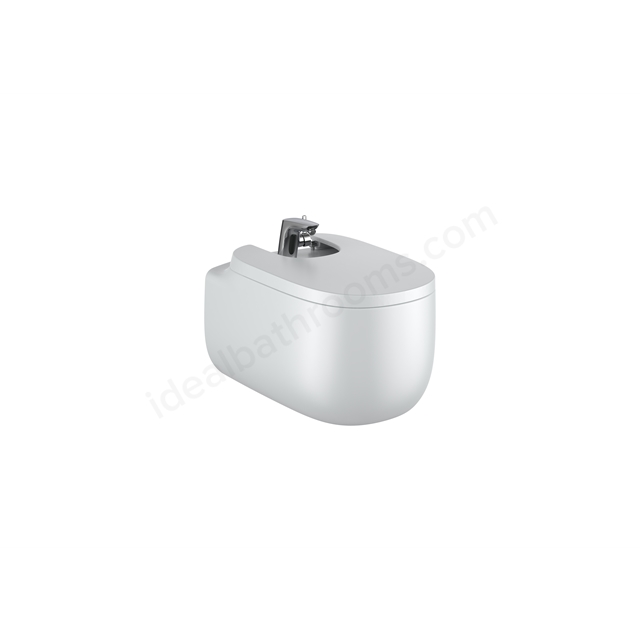 Roca Beyond Wall-Hung Bidet 1Th (With Cover Holes) - Pearl