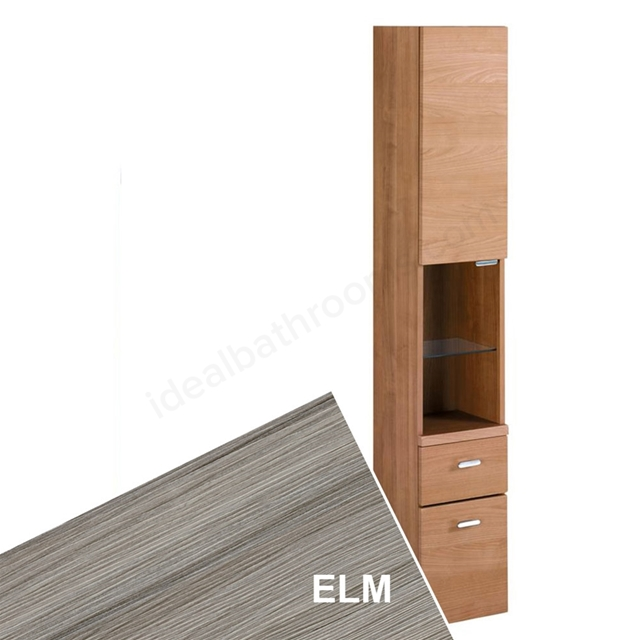 Ideal Standard CONCEPT Column Unit; 1 Door + 1 Shelf + 2 Drawers; 300x1750mm; Elm