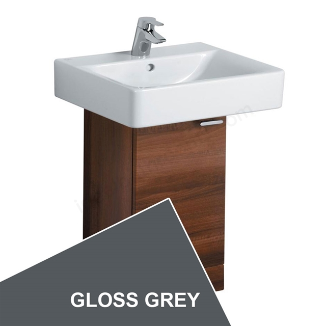 Ideal Standard CONCEPT Wall Hung Basin Unit; 300x300mm; 1 Door; Gloss Grey