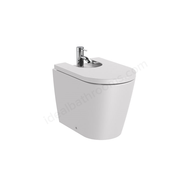 Roca Inspira Round Back-To-Wall Bidet 1Th - Pearl