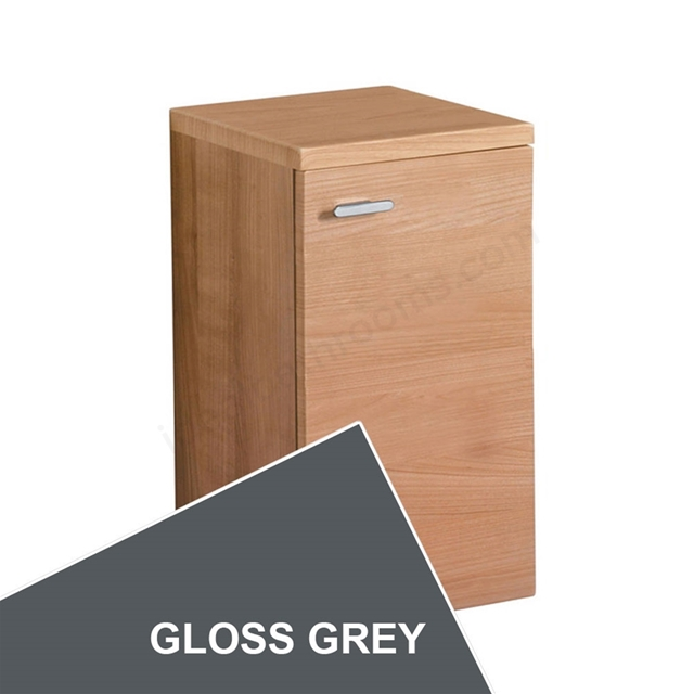 Ideal Standard CONCEPT Wall Hung Storage Unit; 1 Door; 300x300mm; Gloss Grey