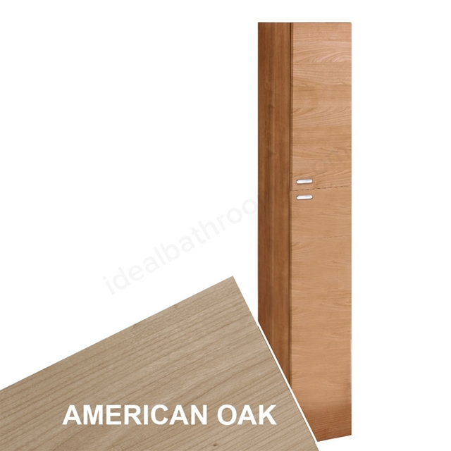 Ideal Standard CONCEPT Column Unit, 2 Doors, 300x1750mm, American Oak