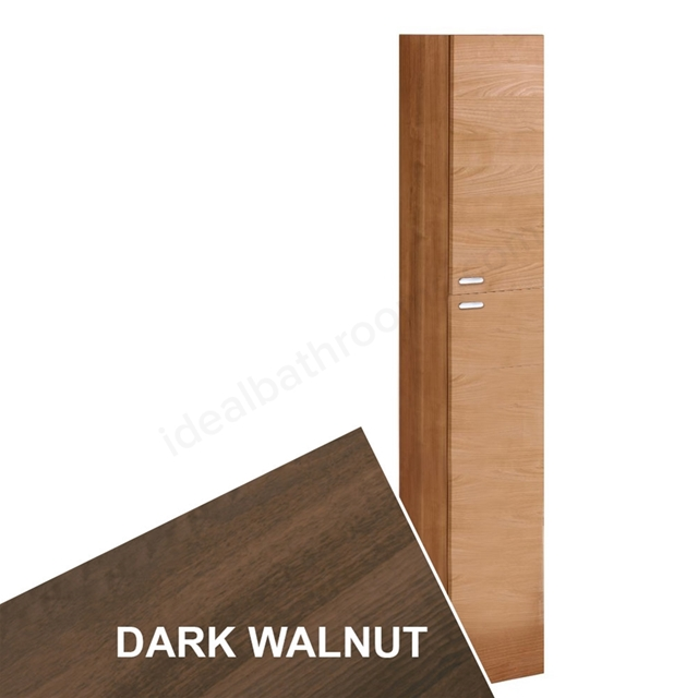 Ideal Standard CONCEPT Column Unit; 2 Doors; 300x1750mm; Dark Walnut