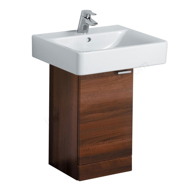 Ideal Standard CONCEPT Wall Hung Basin Unit; 300x300mm; 1 Door; Dark Walnut