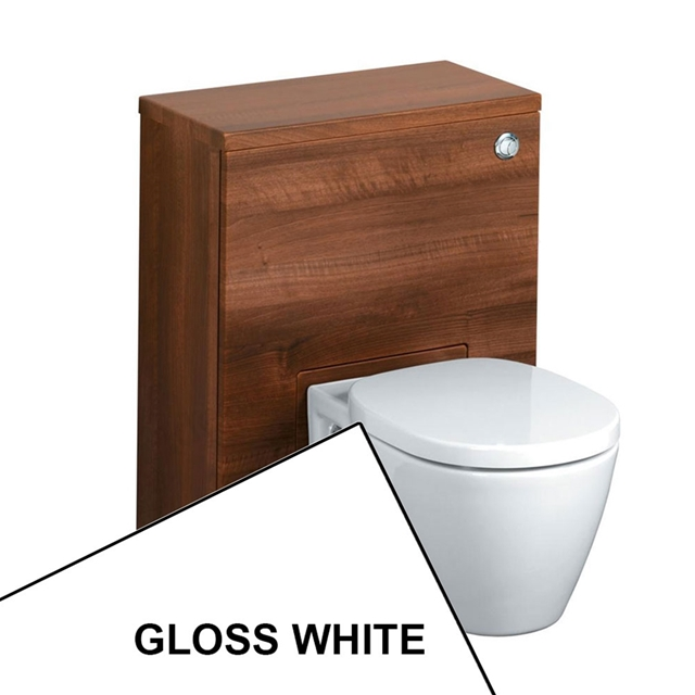 Ideal Standard CONCEPT Wc Unit with Cistern & Push Button; 600x300mm; Gloss White