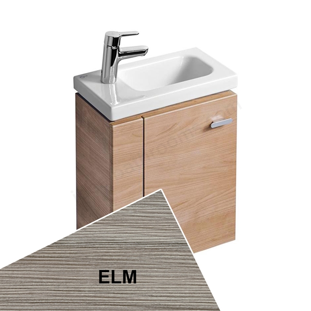 Ideal Standard Concept Space 450 X 250Mm Wall Hung Guest Basin Unit With L Shaped Door - Left Hand - Elm