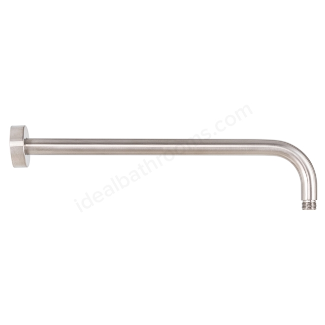 BAGNODESIGN Round wall  shower arm 400 Brushed Nickel