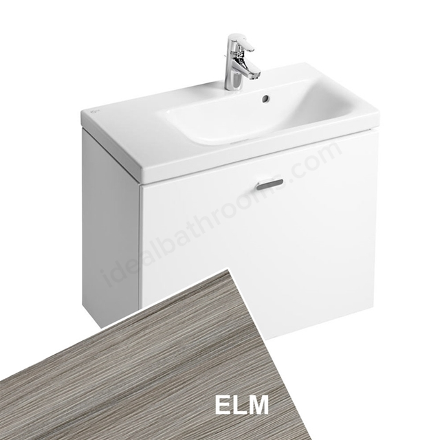 Ideal Standard CONCEPT SPACE; Wall Hung Basin Unit; 700x380mm; Left Handed; 1 Drawer; Elm