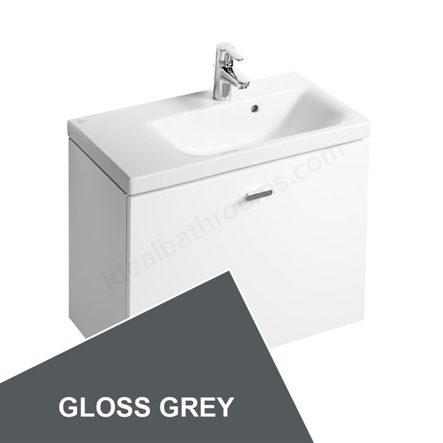 Ideal Standard Concept Space 700 X 380Mm Wall Hung Basin Unit With One Drawer And Left Hand Storage - Grey