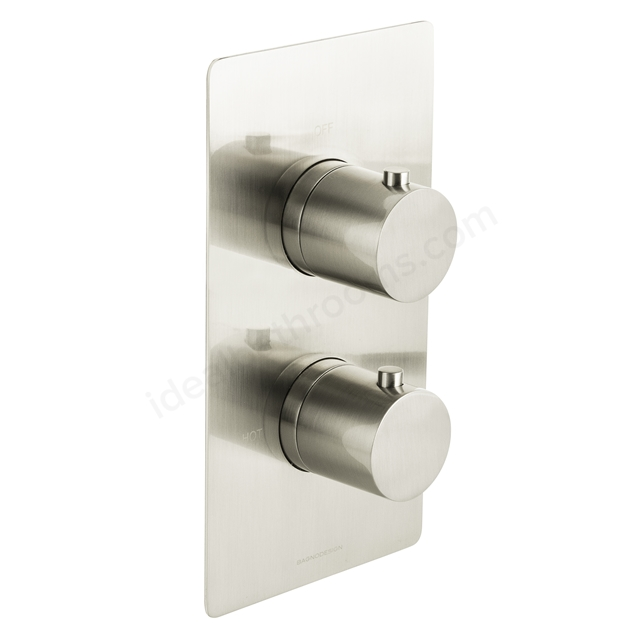BAGNODESIGN Koy trim part for thermostatic shower mixer 1outlet Brushed Nickel