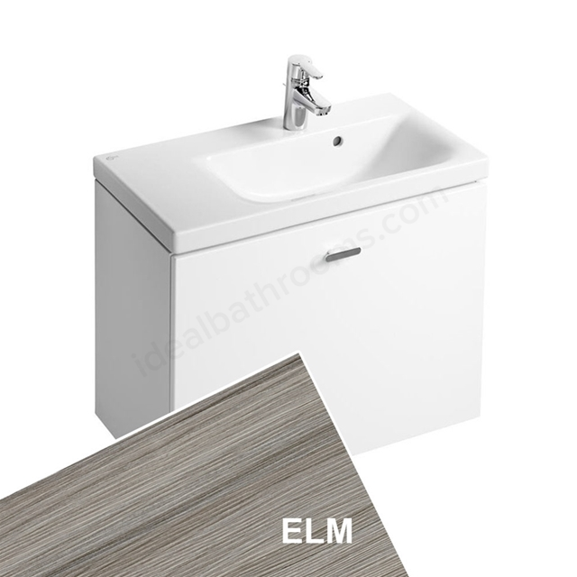 Ideal Standard CONCEPT SPACE; Wall Hung Basin Unit; 700x380mm; Right Handed; 1 Drawer; Elm