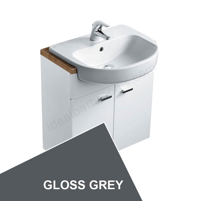 Ideal Standard CONCEPT Wall Hung Basin Unit, 600x300mm, Gloss Grey