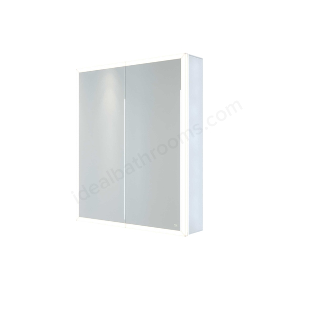 RAK Ceramics Pisces 600x700 LED Illuminated  Mirrored Cabinet w/demister,shavers socket and infra red switch