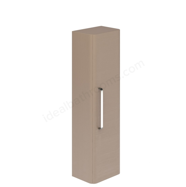 Essential VERMONT Wall Hung Column Unit; 1 Door; 350mm Wide; Light Grey