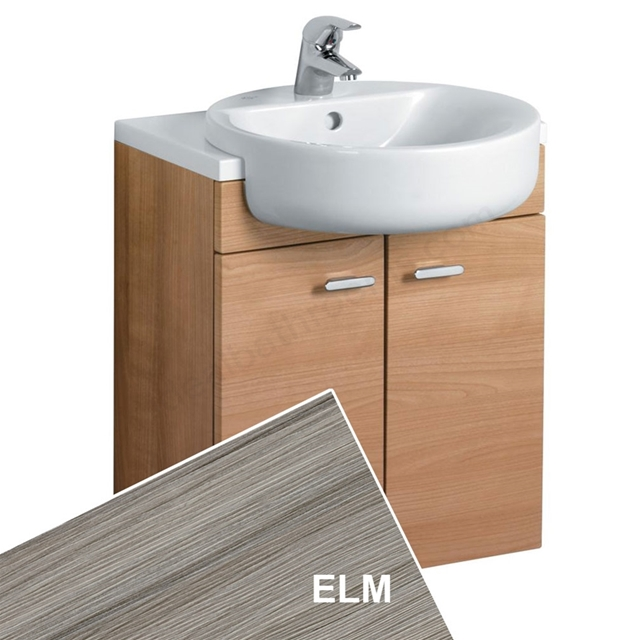 Ideal Standard CONCEPT Wall Hung Semi Countertop Basin Unit; 500x300mm; 2 Doors; Elm