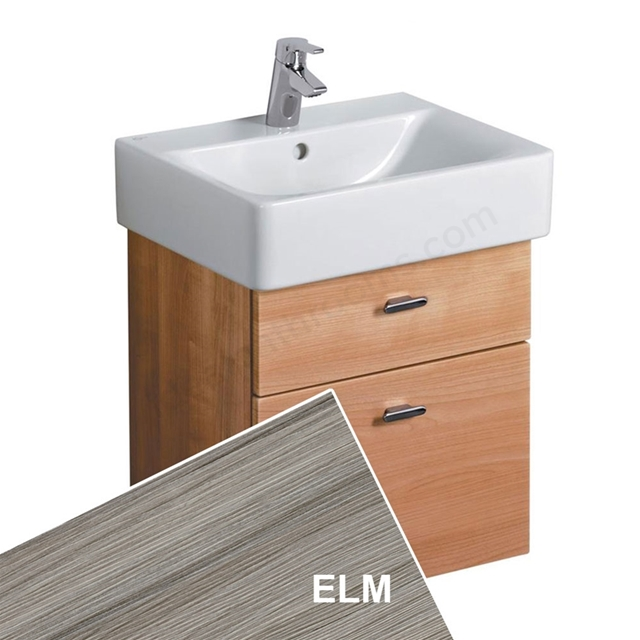 Ideal Standard CONCEPT Wall Hung Cube Basin Unit; 500x420mm; 2 Drawers; Elm
