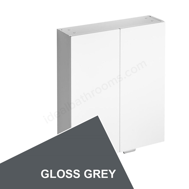 Ideal Standard CONCEPT Wall Storage Unit; 2 Doors; 600x170mm; Gloss Grey