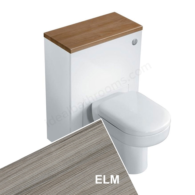 Ideal Standard CONCEPT Wc Unit with Cistern & Push Button; 600x300mm; Elm