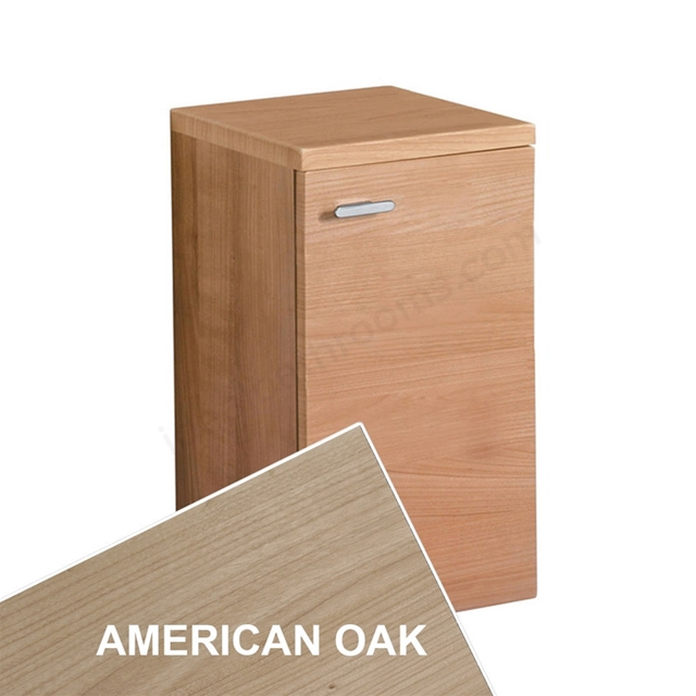 Ideal Standard CONCEPT Wall Hung Storage Unit; 1 Door; 300x300mm; American Oak