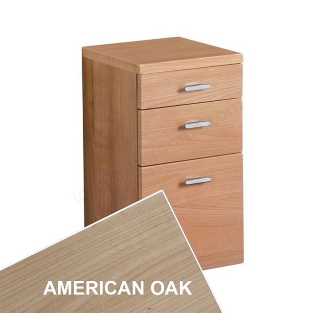 Ideal Standard CONCEPT Wall Hung Storage Unit; 3 Drawers; 300x300mm; American Oak