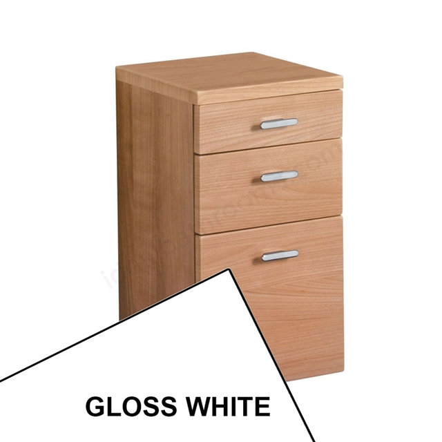 Ideal Standard CONCEPT Wall Hung Storage Unit; 3 Drawers; 300x300mm; Gloss White