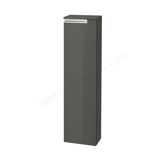 Roca VICTORIA-N Column Unit Left handed; 1 Door; 250mm Wide; Gloss Anthracite Grey