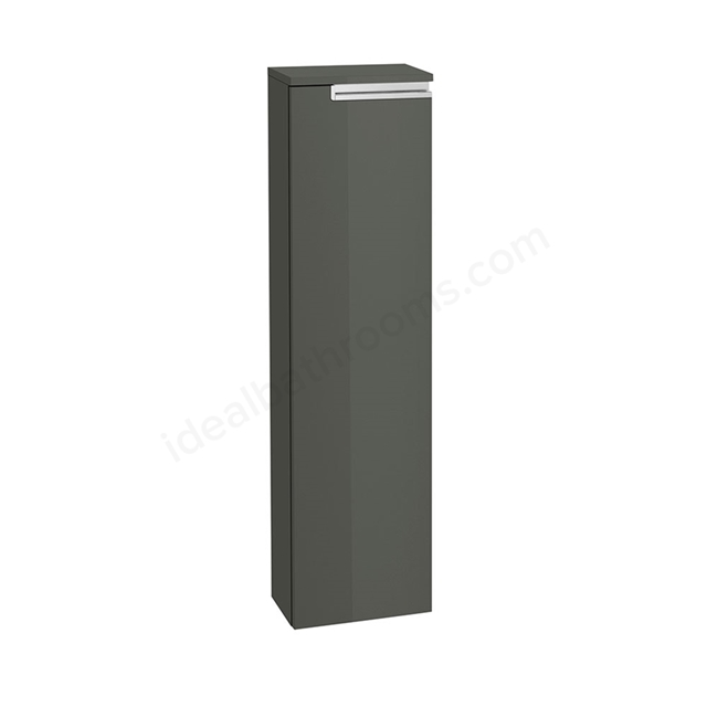 Roca VICTORIA-N Column Unit Right handed; 1 Door; 250mm Wide; Gloss Anthracite Grey