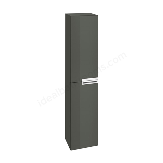 Roca VICTORIA-N Column Unit, 1 Door Reversible, 350mm Wide, Gloss Anthracite Grey