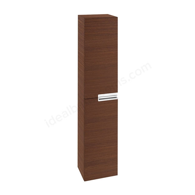 Roca VICTORIA-N Column Unit, 1 Door Reversible, 350mm Wide, Textured Wenge