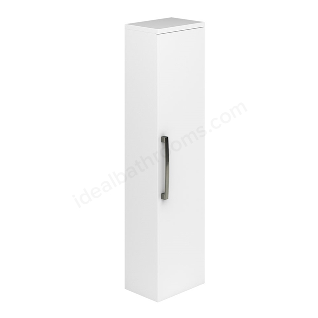 Essential NEVADA Wall Hung Column Unit; 1 Door; 350mm Wide; White