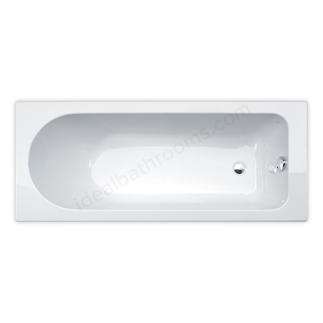 Essential CAMDEN Rectangular Single Ended Bath, 1700x700mm, 0 Tap holes, White