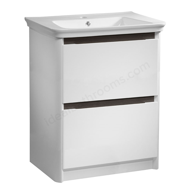 Tavistock Equate 2 Drawer Vanity Unit Only Floor Standing