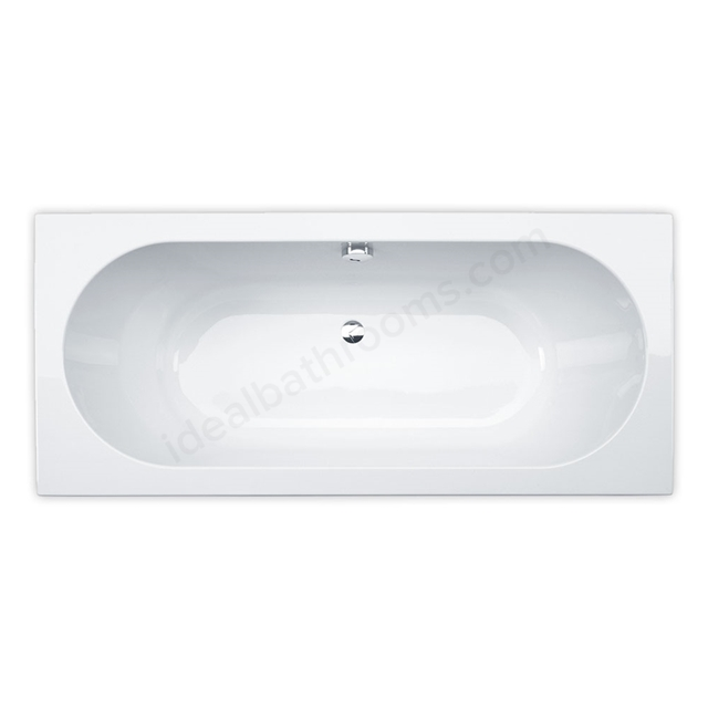 Essential RICHMOND Rectangular Double Ended Bath, 1700x750mm, 0 Tap holes, White