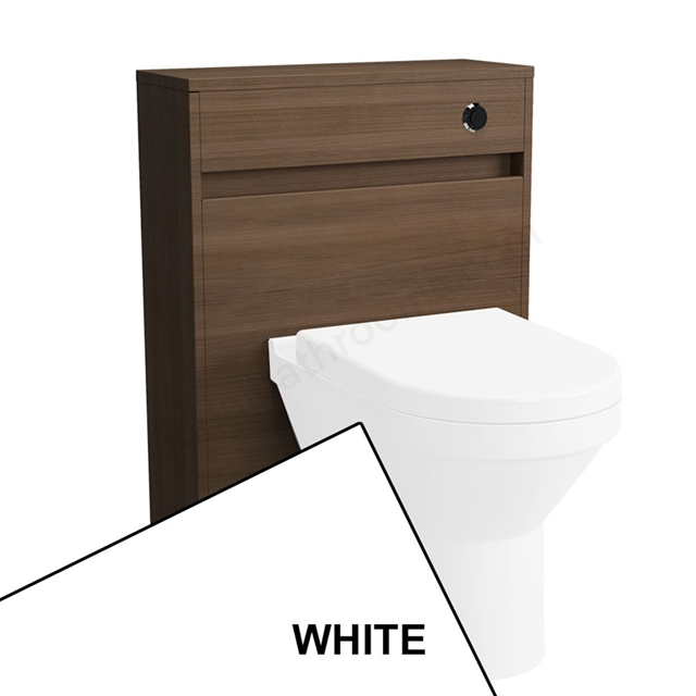 Vitra S50 Floorstanding Toilet Unit Only, 600mm Wide, Gloss White