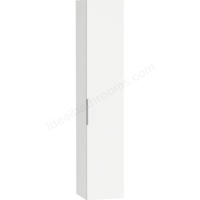 Vitra ECORA Tall Unit; 1 Door; Right Handed; 350mm Wide; White