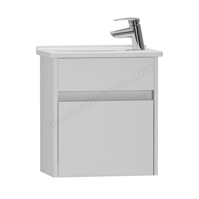 Vitra S50 Wall Hung Washbasin Unit + Basin, 1 Drawer, 450mm Wide, Gloss White
