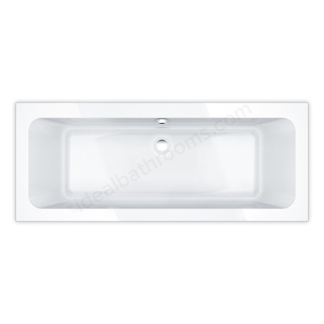 Essential ISLINGTON Rectangular Double Ended Bath, 1700x700mm, 0 Tap holes, White