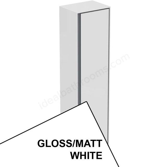 Ideal Standard CONCEPT AIR Wall Hung Tall Column Unit; 1 Door; 400mm Wide; Gloss White / Matt White