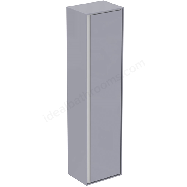 Ideal Standard CONCEPT AIR Wall Hung Tall Column Unit; 1 Door; 400mm Wide; Gloss Grey / Matt White