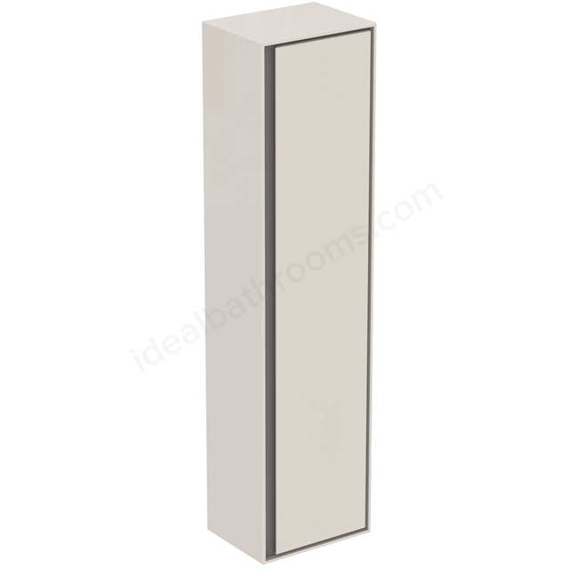Ideal Standard CONCEPT AIR Wall Hung Tall Column Unit, 1 Door, 400mm Wide, Gloss White / Matt Grey