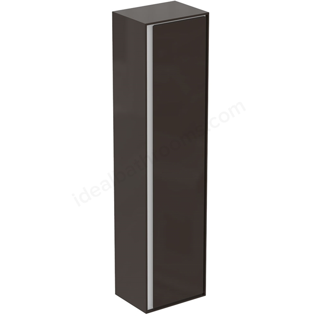 Ideal Standard CONCEPT AIR Wall Hung Tall Column Unit; 1 Door; 400mm Wide; Matt Dark Brown / Matt White