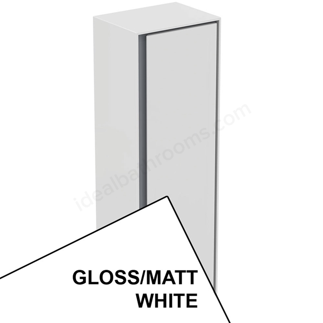 Ideal Standard CONCEPT AIR Wall Hung Half Column Unit; 1 Door; 400mm Wide; Gloss White / Matt White