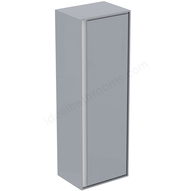 Ideal Standard CONCEPT AIR Wall Hung Half Column Unit; 1 Door; 400mm Wide; Gloss Grey / Matt White