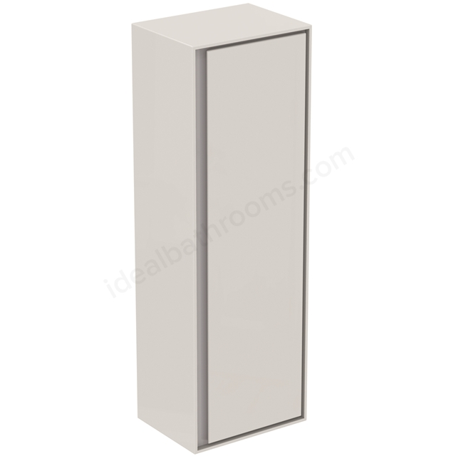 Ideal Standard CONCEPT AIR Wall Hung Half Column Unit; 1 Door; 400mm Wide; Gloss White / Matt Grey