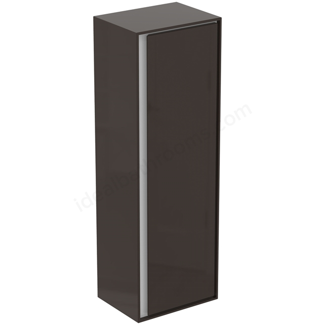 Ideal Standard CONCEPT AIR Wall Hung Half Column Unit; 1 Door; 400mm Wide; Matt Dark Brown / Matt White